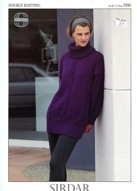 Sirdar Superwash Dk Knitting Pattern 9390 Teens Womens Long
