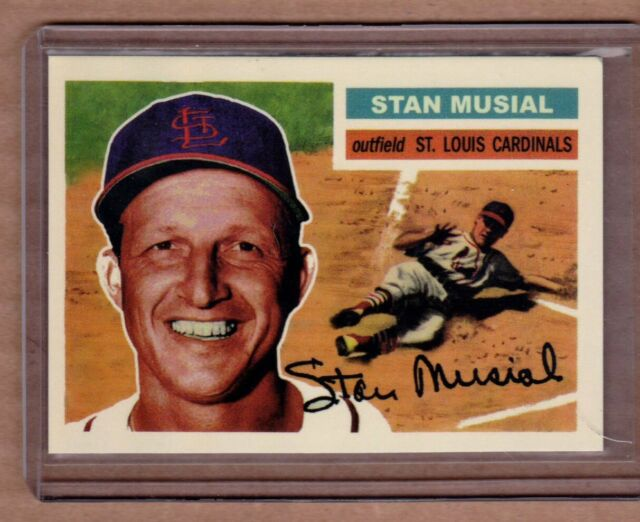Stan Musial St Louis Cardinals custom card by Bob Lemke '56 style #348  🔥