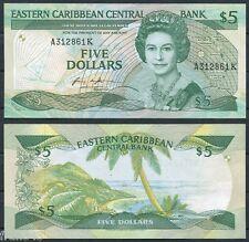 EAST CARIBBEAN STATES  5  Dolares 1986 1988   Pick  18 k   SC-  /  A/UNC