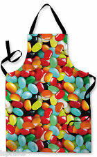 JELLY SWEETS DESIGN APRON KITCHEN BBQ COOKING PAINTING GREAT GIFT IDEA
