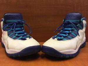 "5c79a3b2d7c4 Nike Air Jordan X 10 Retro ""Charlotte"" White Concord Blue 310806-107 ..."