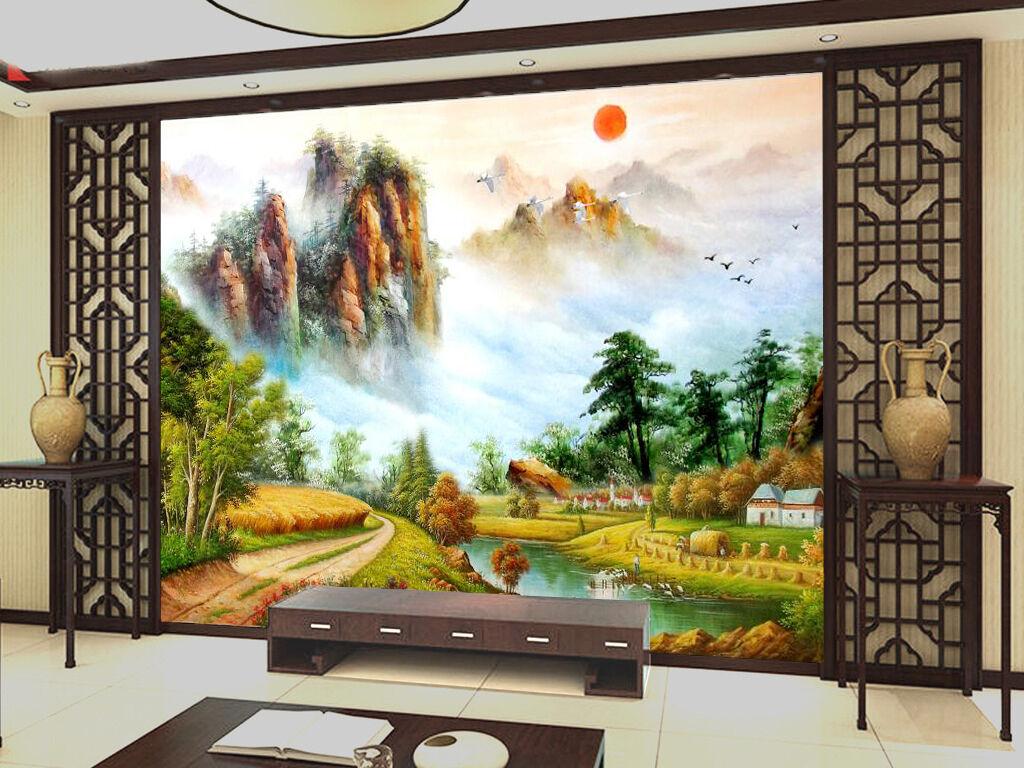 3D Mountain Forest 824 Wallpaper Mural Paper Wall Print Wallpaper Murals UK
