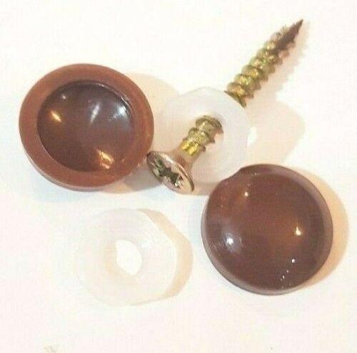 Brown 2 x PLASTIDOME PLASTIC DOME SCREW CAP COVER PROTECTOR