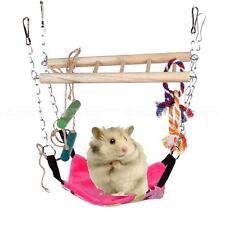 Hamster Mouse Gerbil Cage Accessory Hanging Suspension Bridge Toy Swing Pet