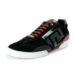 Versace-Men-039-s-Suede-Leather-Fashion-Sneakers-Shoes-US-9-IT-42