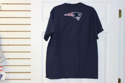 New England Patriots Team Apparel T-Shirt Dark Navy With White//Red Lettering