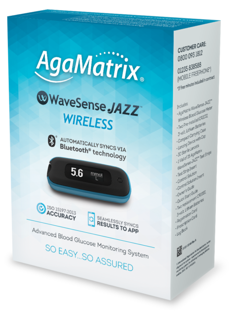 AgaMatrix WaveSense JAZZ Blood Glucose Monitoring Meter