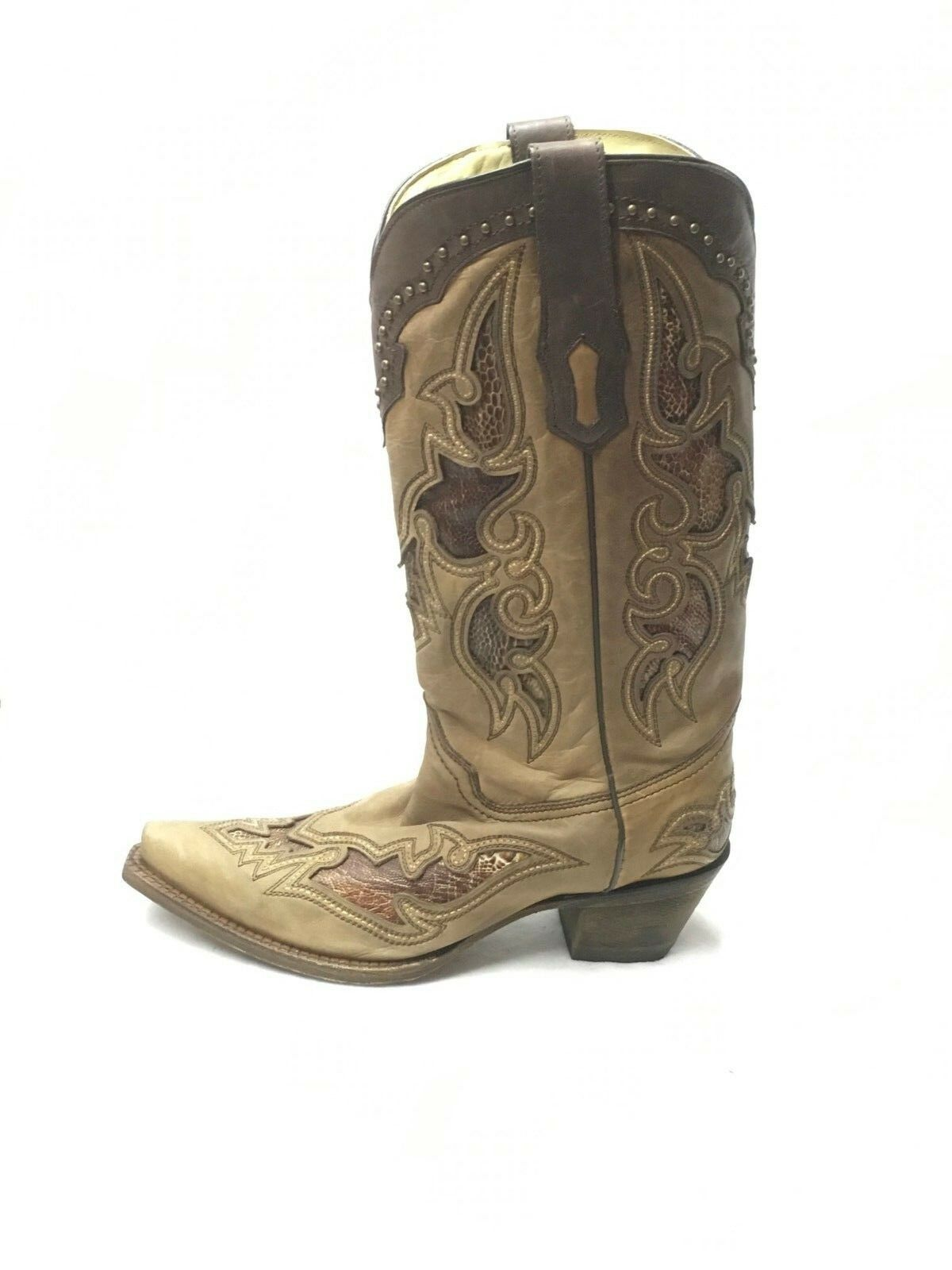 Ladies Corral Corral Corral Boots-Antique Saddle w Ostrich Leg Inlay, Style A2964 c9b09f