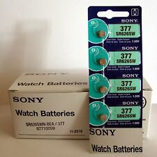 4 NEW SONY 377 SR626SW SR66 V377 Silver Oxide watch battery Expiration date 2020