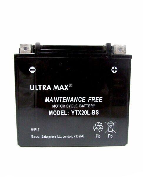 Harley Davidson Battery >> Ultramax Ytx20l Bs Battery Harley Davidson Xl Xlh Sportster 97 03 883