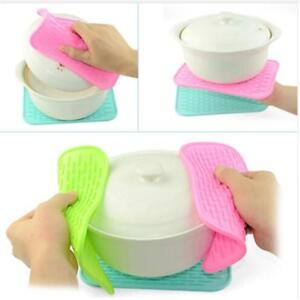 Silicone-Pot-Holder-Mat-Spoon-Rest-Heat-Resistant-Kitchen-Oven-Grip-Tools-DB