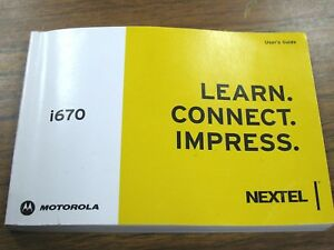 motorola nextel i670 mobile cell wireless flip phone user manual rh ebay com Instruction Manual Example User Manual Template