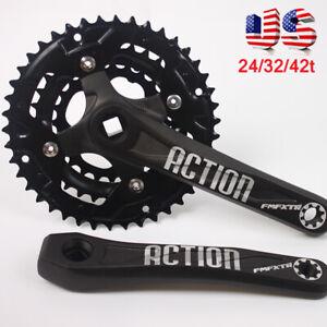 FMFXTR-3X10s-104-64bcd-24-32-42t-Triple-MTB-Bike-Crankset-Crank-set-Chainring