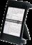 ridoide 2021 3-Monats-Tischkalender 11x18,3cm Kunststoff 7038000301 bl,sch 1S//3M