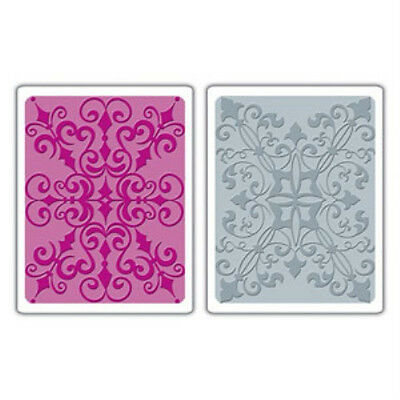 657112 Country /& Flowering Foliage Set Sizzix A2 Embossing Folders 2PK