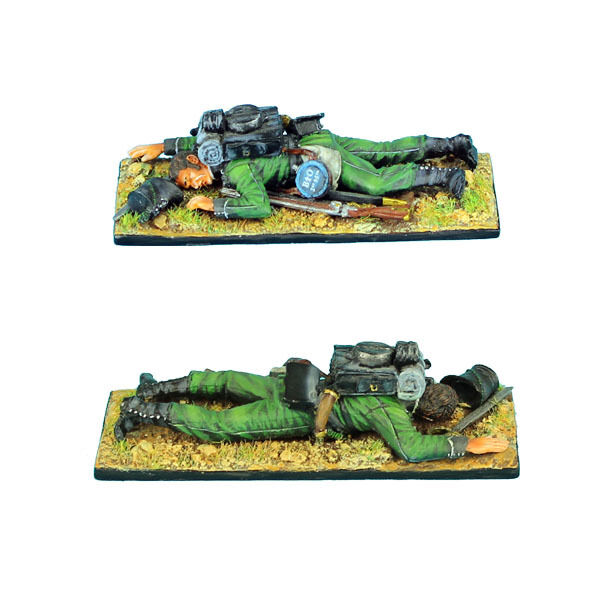 FIRST LEGION NAP0290 British 95th Rifles Dead, Hand Painted Diecast Metal NAP290