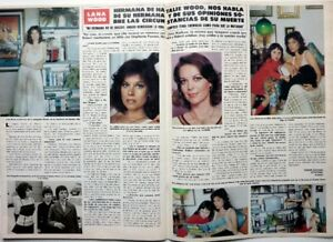 Details about Natalie wood sister (lana wood) => 2 pages 1982 English  Clipping!!!- show original title