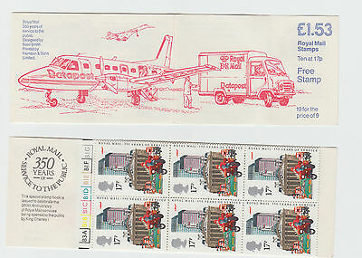 GB STAMP BOOKLET 1985 350 years of Mail Data Post Cylinder Numbers  FT4  Mint