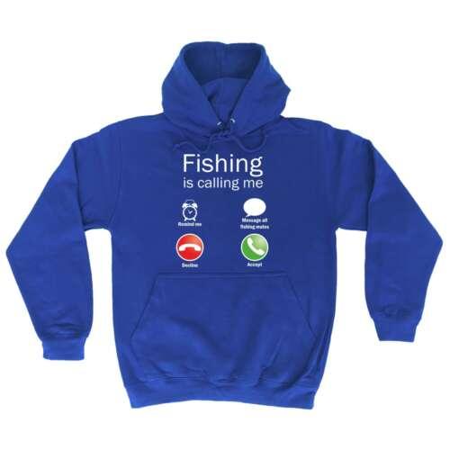 La pesca è chiamarmi BARZELLETTA Divertente Pesca a Mosca VELA Rod Felpa con Cappuccio