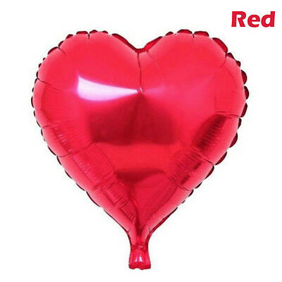 """Lots Solid 7 Colors  Heart Shape Wedding Birthday Party Helium Foil Balloons 18"""""""