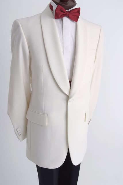 Weiß Elfenbein Smoking Jacke Abendessen Abendkleid Kreuzfahrt Neu Jahre Abend