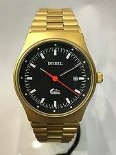 Orologio BREIL MANTA VINTAGE TW1293 Bracciale Acciaio Gold Dorato Retrò Black