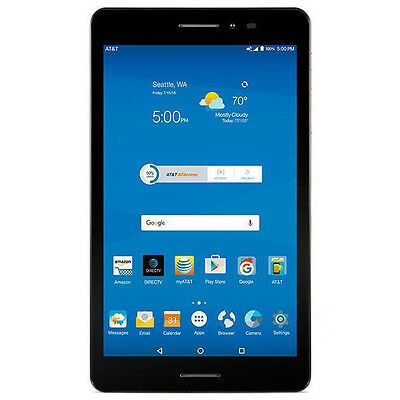 "ZTE Trek 2 HD K88 Wi-Fi GSM AT&T Unlocked 8"" Android Tablet Gray 5MP - N"