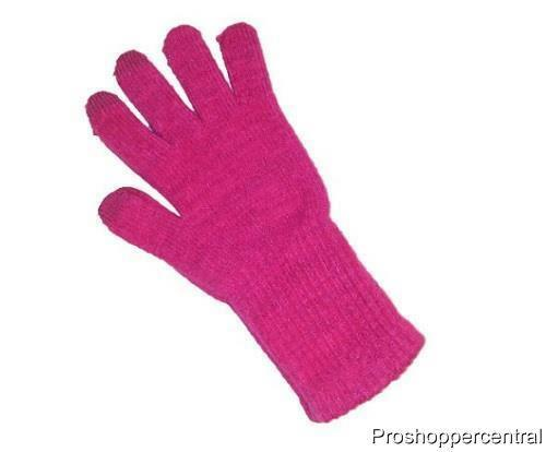 Plushfill Cuddl Duds Girls Soft Texting Pink Sparkle Gloves Size 7-14