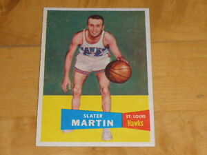 1957-58 Topps Basketball High Grade Set Break #12 Slater Martin RC ROOKIE