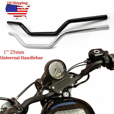 1/'/' 25mm Black Motorcycle Drag Bar Handlebar 32/'/' Wide For Honda Suzuki Yamaha