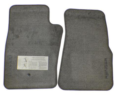 New OEM Logo Floor Mat Set Carpeted Medium Graphite Gray For Ford Ranger