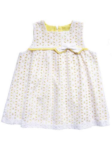 Luli and Me Baby Girls White Eyelet Dress Sleeveless Size 24M NWT