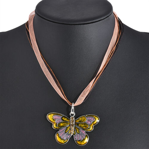 Fashion Charm Vintage Dragonfly Chain Necklace Pendant Silver Plated Jewelry