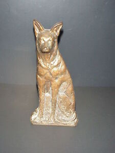 Antique Cast Iron Dog Doorstop German Shepard Ebay