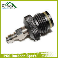 Paintball Asa To Remote Adaptor With Male Quick Disconnect Plug
