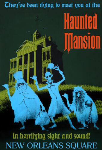 "Vintage Disneyland  Haunted Mansion 1969 8.5/"" x 11/"" Poster"
