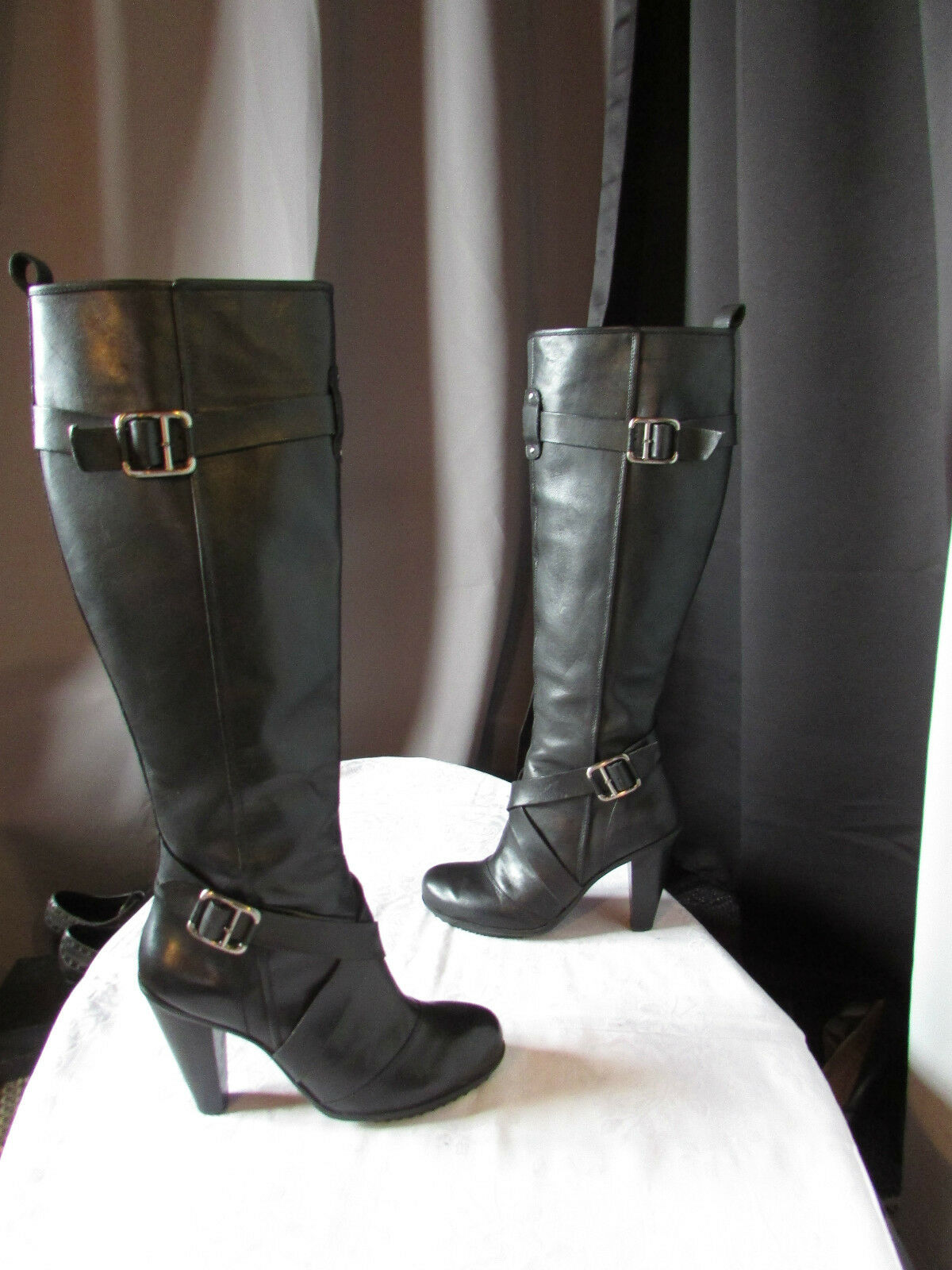 DKNYC black leather boots size 39
