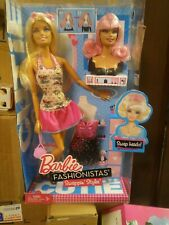 2010 V4381 NEW Swapping Heads Barbie Fashionistas Cutie Doll Swappin/' Style