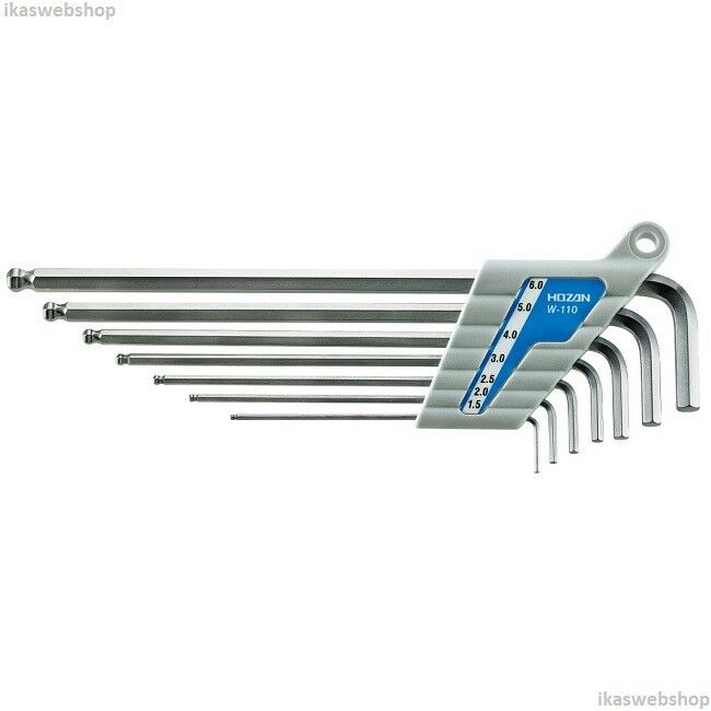 Hozan W-110 Ballpoint Wrench Set (set of 7) -- Fast US Shipping