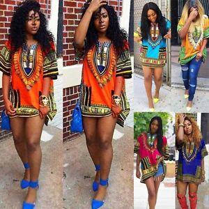 Women-Summer-Dress-Traditional-African-Print-Casual-Straight-Print-Mini-Dresses
