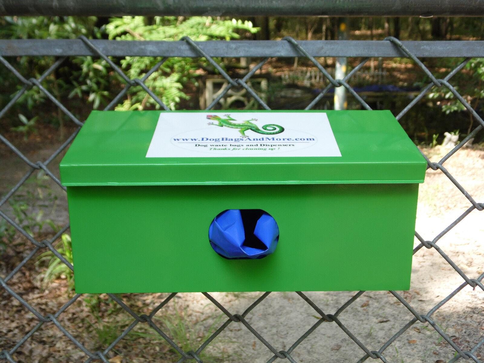 Dog Waste Bag Dispenser + 5000 Biodegradable Pet Bags + Burgundy Sign  111