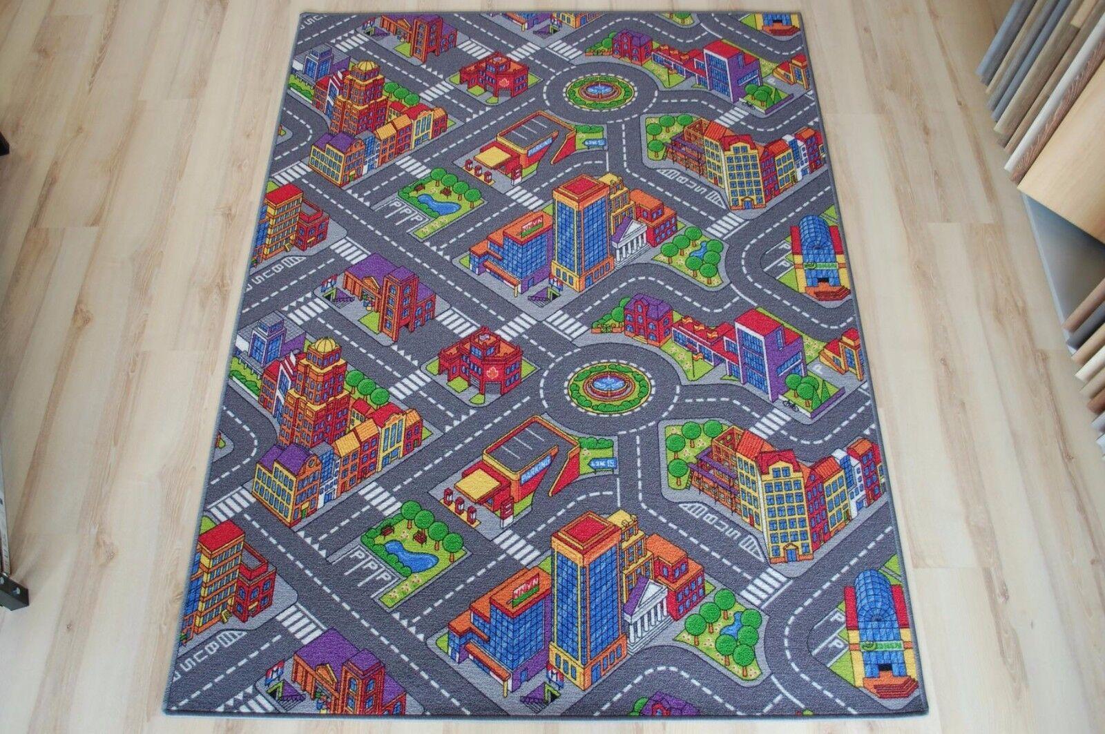 Tapis Routier enfants Tapis de jeu Citylight 440x400 cm