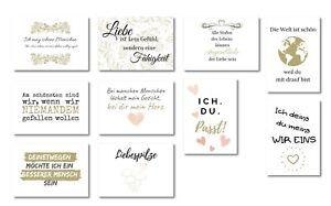 Details Zu 10er Postkarten Set Gefühl Schöne Sprüche Zum Thema Liebe Freunde Hochzeit