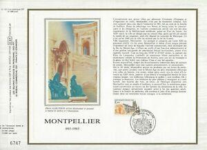 Foglio-CEF-1er-Giorno-Sul-Seta-Francia-Montpellier-1985