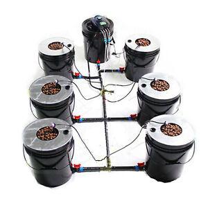 acque profonde cultura 6 Pot Kit per coltivazione idroponica 20L DWC