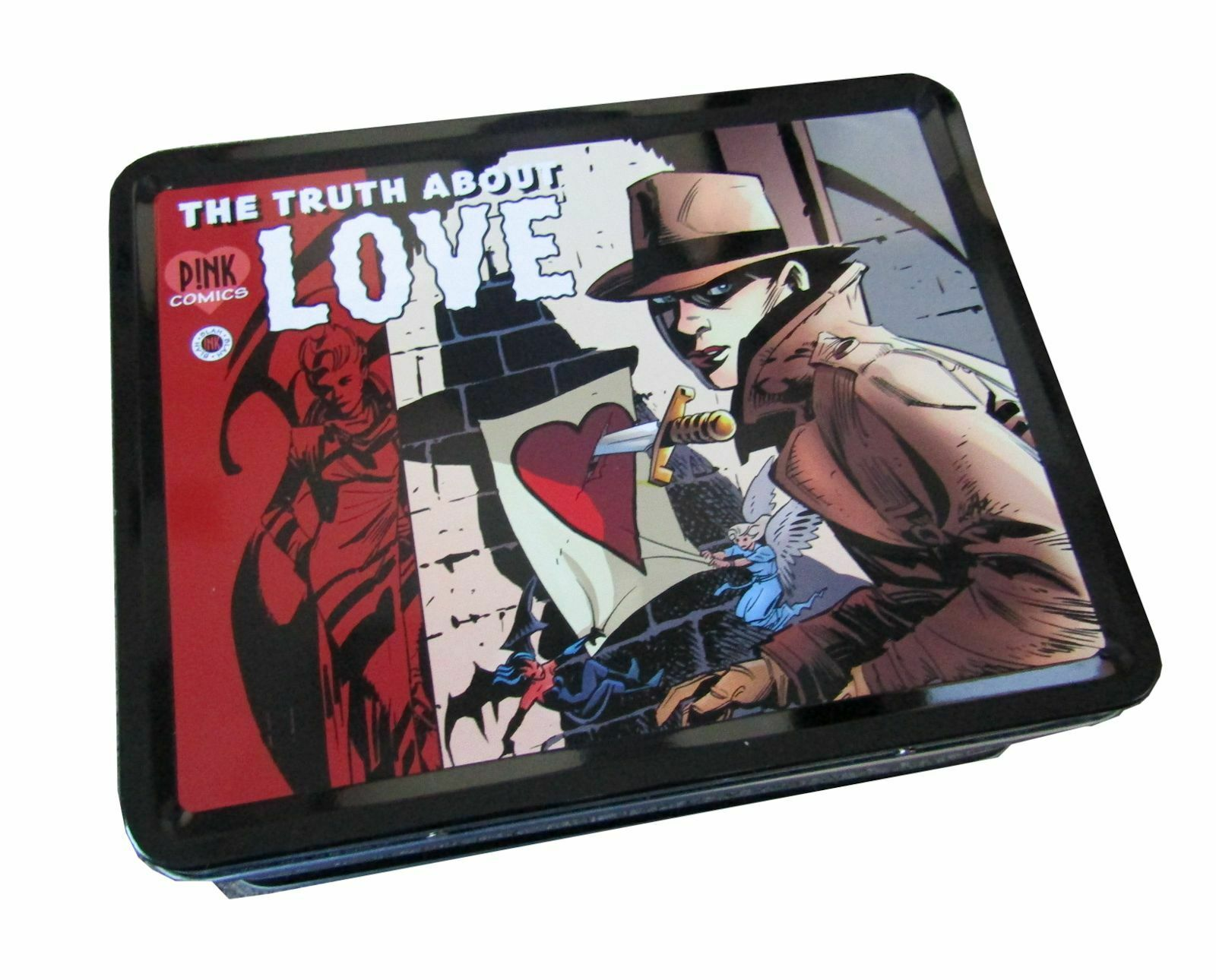 P!NK Pink The Truth About Love Comics Tin Lunch Box