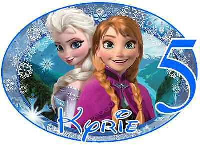 """Frozen Princess Personalized Iron On Transfer 5x7/"""" for LIGHT Colored Fabric"""