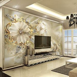 3d Wallpaper Bedroom Mural Roll Marble Diamond Jewelry Wall Background Modern Ebay