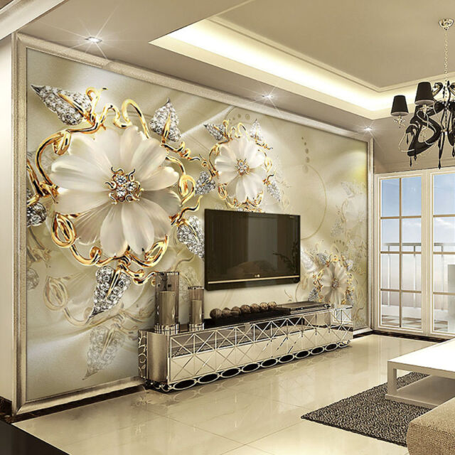 3D Wallpaper Bedroom Mural Roll Marble Diamond Jewelry Wall Background  Modern