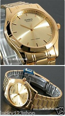MTP-1170N-9A Gold Casio Men's Watches Stainless Steel Band Date Display Analog
